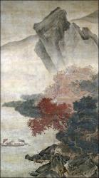 Autumn Storm on the River - Liu Songnian (16th century)