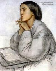 Christina Rossetti Portrait by her brother Dante Gabriel Rossetti courtesy: Wikipedia